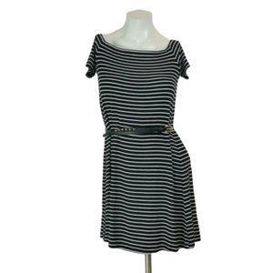 Old Navy Striped Short Sleeve Slinky A-Line Dress
